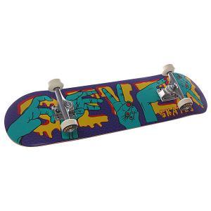Скейтборд в сборе  Complite Hands 31.4 X 7.8 (19.8 См) Seven. Цвет: фиолетовый,голубой
