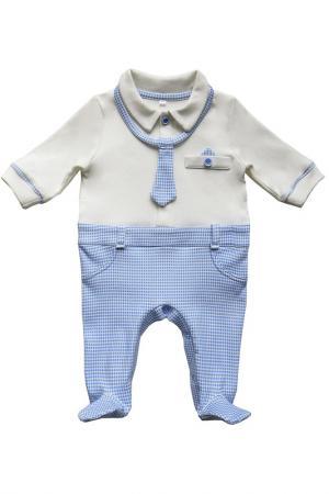 Комбинезон SONI KIDS. Цвет: белый, голубой