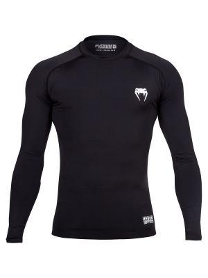 Компрессионная футболка Venum Contender 2.0 Compression T-Shirt - Long Sleeves Black/Ice. Цвет: черный