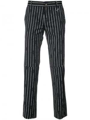 Полосатые брюки Icosae. Цвет: чёрный