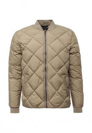 Куртка утепленная Jack & Jones. Цвет: бежевый