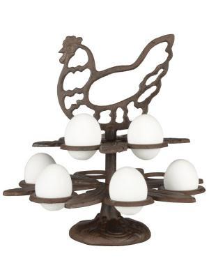 Подставка для яиц Esschert Design. Цвет: темно-коричневый