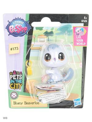 Игрушка Зверюшка Littlest Pet Shop. Цвет: серый, бирюзовый, прозрачный, черный