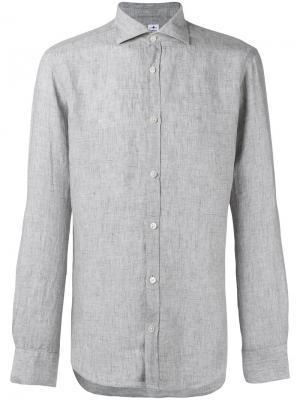 Рубашка с широким воротником Danolis. Цвет: серый