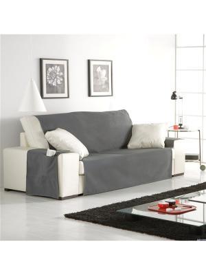 Накидка непромокаемая на трехместный диван Иден цвет светло-серый Медежда. Цвет: светло-серый