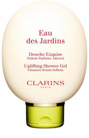 Гель для душа Eau des Jardins Clarins. Цвет: бесцветный