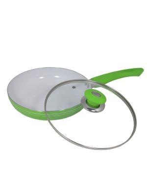 Сковорода с керамическим покрытием 26см BOHMANN. Цвет: зеленый