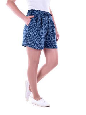 Шорты женские OLBE. Цвет: синий, бирюзовый