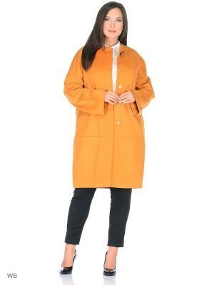Пальто Liotti Moda. Цвет: желтый