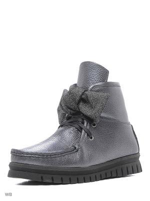 Ботинки Tucino. Цвет: темно-серый, серебристый