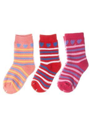 Набор носочков Pretty Mania. Цвет: красный, розовый, персиковый