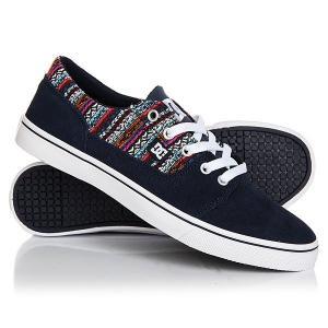 Кеды кроссовки низкие женские DC Tonik W Le Navy Shoes. Цвет: синий,мультиколор