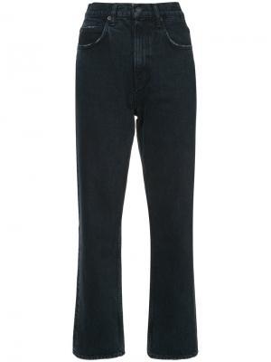 Укороченные расклешенные джинсы Proenza Schouler. Цвет: серый