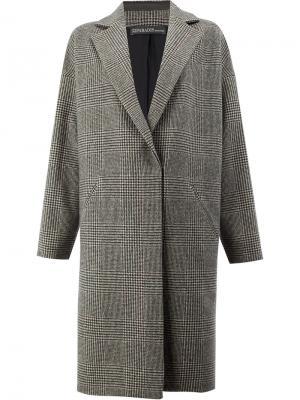 Пальто в клетку 32 Paradis Sprung Frères. Цвет: многоцветный