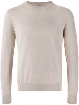 Ribbed trim sweatshirt Canali. Цвет: телесный