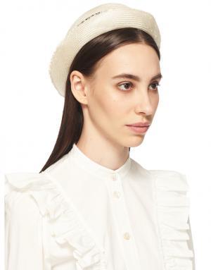 Шляпа канотье Josephine Benoit Missolin. Цвет: белый