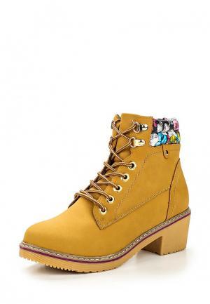 Ботинки Jomix. Цвет: горчичный