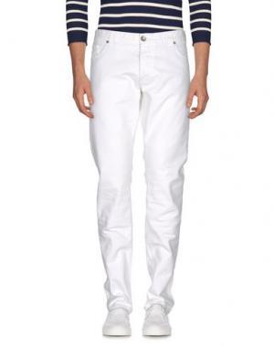 Джинсовые брюки MANUEL RITZ WHITE. Цвет: белый