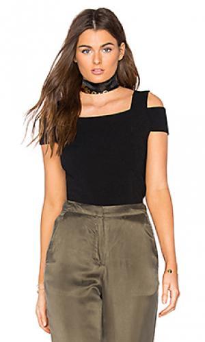 Топ с открытыми плечами Autumn Cashmere. Цвет: черный