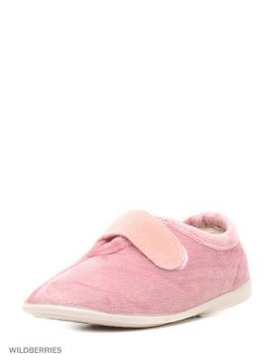 Туфли комнатные с верхом из текстильных  материалов детские. BRIS. Цвет: розовый