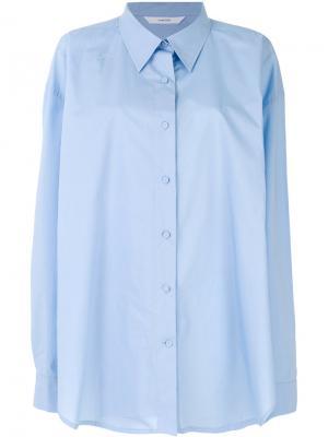 Свободная рубашка Push Button. Цвет: синий