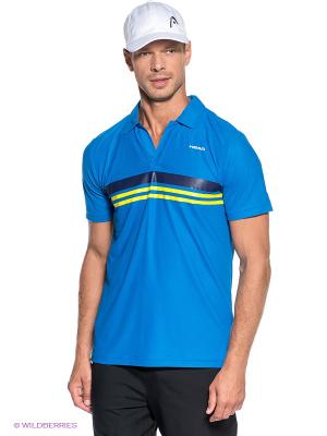 Футболка-поло Vortex Poloshirt Open HEAD. Цвет: синий