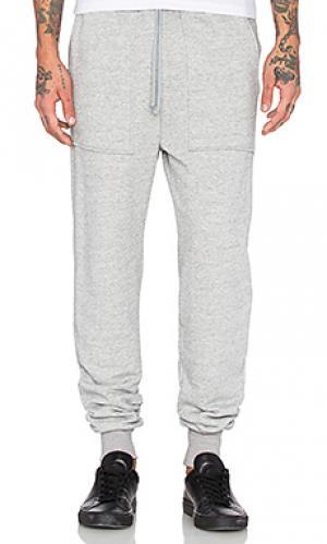 Свободные брюки french terry Wil Fry. Цвет: серый