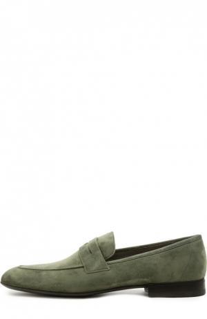 Лоферы Aldo Brue. Цвет: оливковый