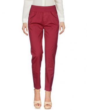 Повседневные брюки EUROPEAN CULTURE. Цвет: красно-коричневый