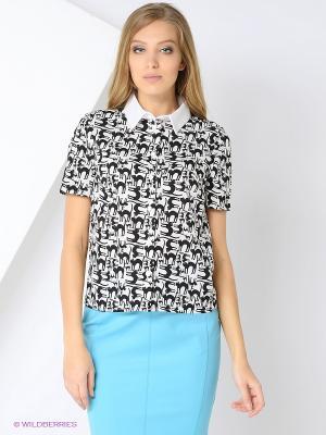 Блузка СОНЯ МАРМЕЛАДОВА. Цвет: белый, черный