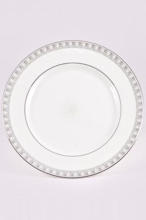 Набор тарелок 21 см, 6 шт. Narumi. Цвет: белый, платина