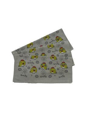 Набор-полотенец, 3 шт A and C Collection. Цвет: бежевый, горчичный, золотистый, кремовый, желтый, белый