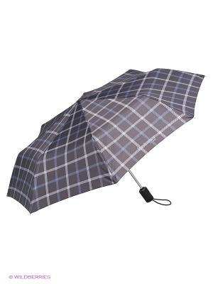 Зонты Isotoner. Цвет: серый, черный, синий