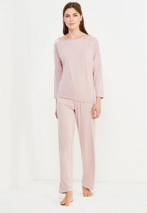 Комплект брюки и лонгслив Luisa Moretti. Цвет: розовый