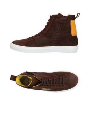Высокие кеды и кроссовки ENRICO FANTINI. Цвет: темно-коричневый