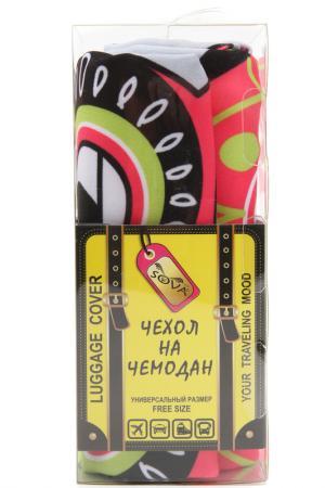 Чехол на чемодан SOVA COVER. Цвет: совушки