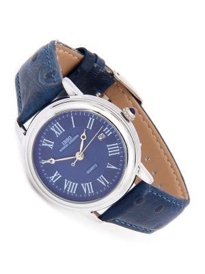 Часы на ремне IBSO. Цвет: синий, серебристый