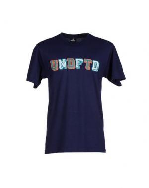 Футболка UNDEFEATED. Цвет: темно-синий