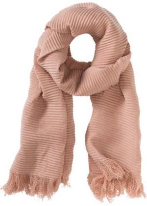 Шаль из гофрированного материала (винтажно-розовый) bonprix. Цвет: винтажно-розовый