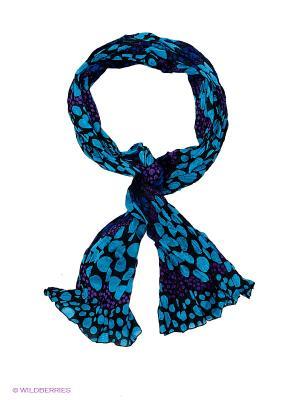 Платок Passigatti. Цвет: голубой, черный