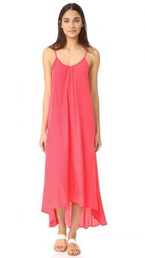 Макси-платье Resort ONE by Pink Stitch. Цвет: фламинго