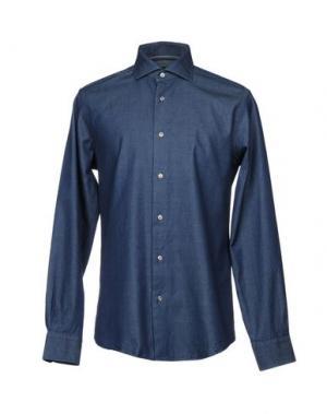 Джинсовая рубашка PAL ZILERI. Цвет: синий