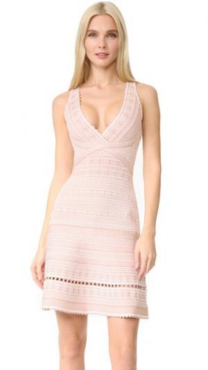 Платье Stacey Herve Leger. Цвет: алебастр, комбинированный