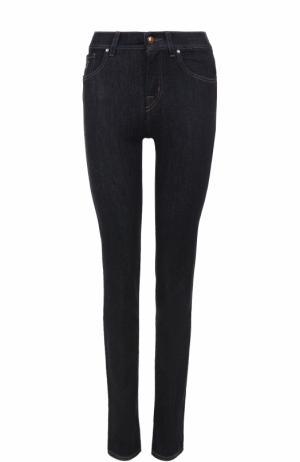 Однотонные джинсы с контрастной прострочкой Jacob Cohen. Цвет: синий