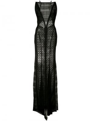 Кружевное платье J. Mendel. Цвет: чёрный