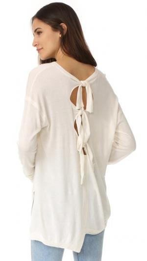 Свитер с напуском со смещенными завязками на спине Wilt. Цвет: белый