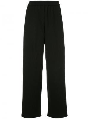 Укороченные широкие брюки Le Ciel Bleu. Цвет: чёрный