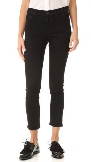 Облегающие джинсы до щиколотки Isabelle GOLDSIGN. Цвет: черный оникс
