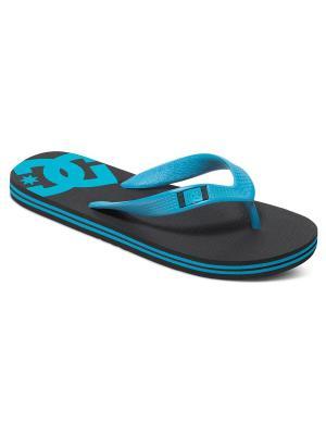 Шлепанцы DC Shoes. Цвет: черный, голубой