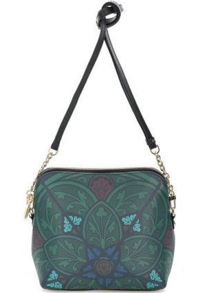Кожаная сумка через плечо Curanni. Цвет: зеленый